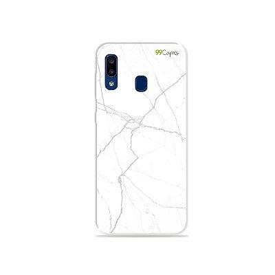 Capa para Galaxy A20 - Marble White