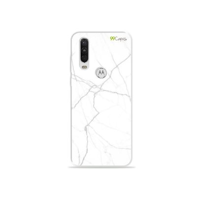 Capa para Moto One Action - Marble White
