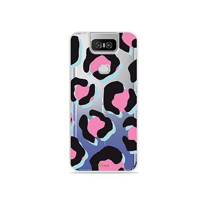 Capa para Zenfone 6 - Animal Print Pink & Blue