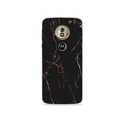 Capa para Moto G6 Play - Marble Black