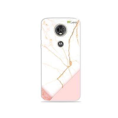 Capa para Moto E5 Plus - Marble