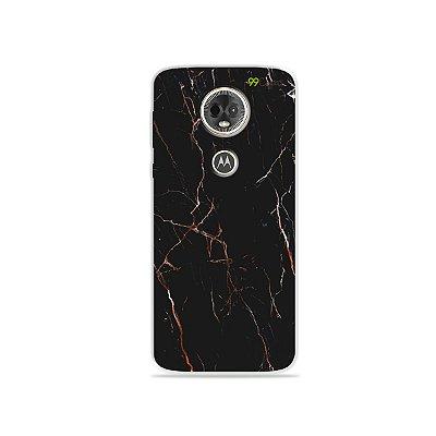 Capa para Moto E5 Plus - Marble Black