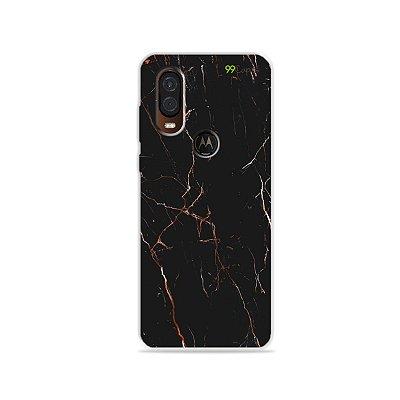 Capa para Moto One Vision - Marble Black