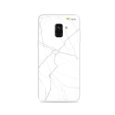 Capa para Galaxy A8 Plus 2018 - Marble White