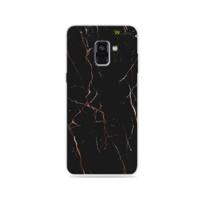 Capa para Galaxy A8 Plus 2018 - Marble Black