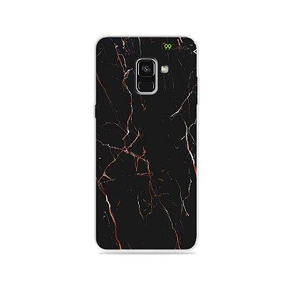 Capa para Galaxy A8 Plus 2018 - Marble Black