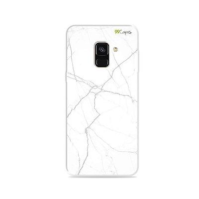 Capa para Galaxy A8 2018 - Marble White