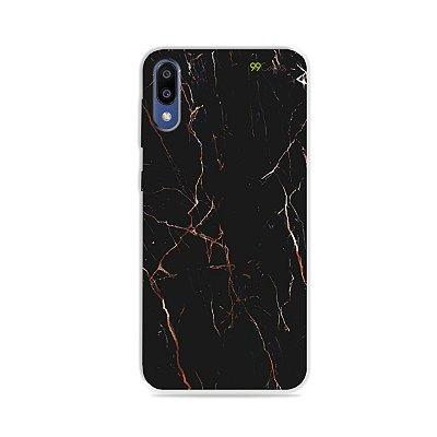 Capa para Galaxy M10 - Marble Black