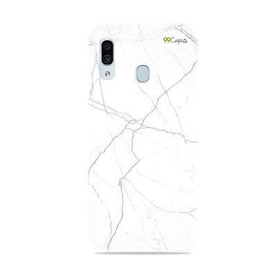 Capa para Galaxy A30 - Marble White