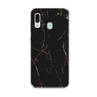 Capa para Galaxy A30 - Marble Black