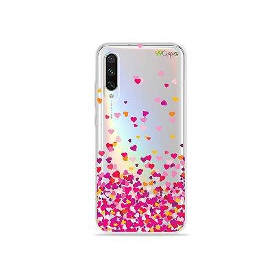 Capa para Xiaomi Mi A3 - Corações Rosa