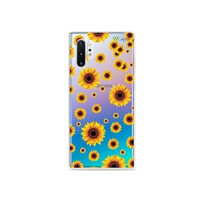 Capa para Galaxy Note 10 - Girassóis