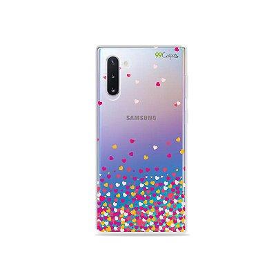 Capa para Galaxy Note 10 - Corações Rosa