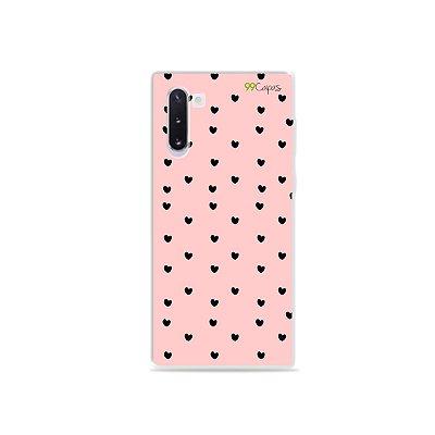 Capa para Galaxy Note 10 - Corações Preto