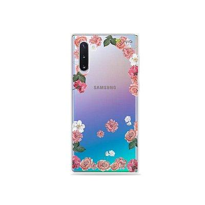 Capa para Galaxy Note 10 - Pink Roses