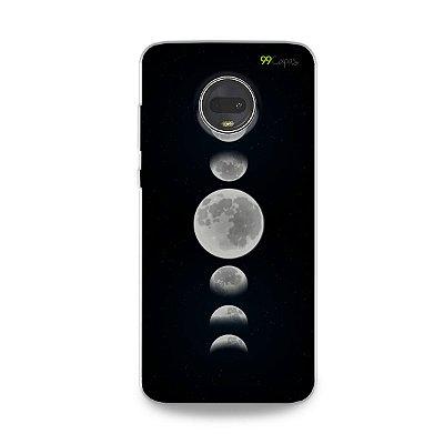 Capa para Moto G7 - Fases da Lua