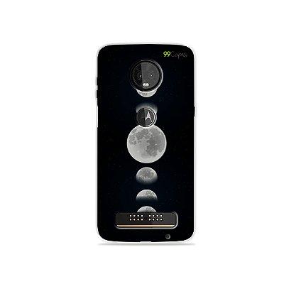 Capa para Moto Z3 Play - Fases da Lua