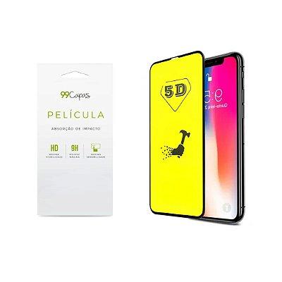 Película de Gel 5D (flexível) para iPhone X/XS - 99Capas