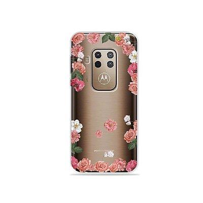 Capa para Moto One Zoom - Pink Roses