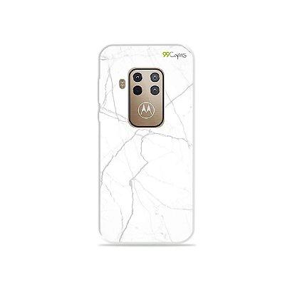 Capa para Moto One Zoom - Marble White