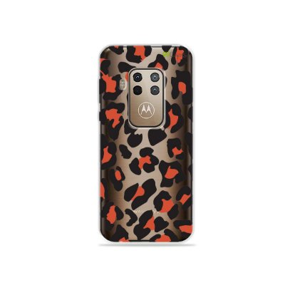 Capa para Moto One Zoom - Animal Print Red