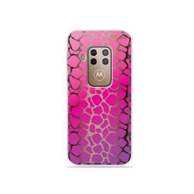 Capa para Moto One Zoom - Animal Print Pink