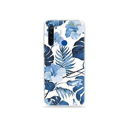 Capa para Xiaomi Redmi Note 8T - Flowers in Blue