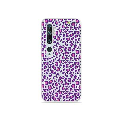 Capa para Xiaomi Mi Note 10 - Animal Print Purple