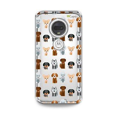 Capa para Moto G7 Plus - Doguinhos