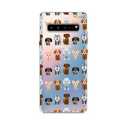 Capa para Galaxy S10 - Doguinhos