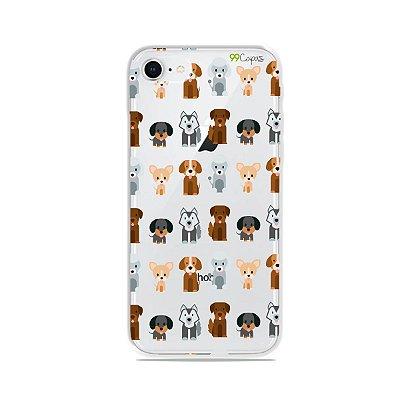 Capa para iPhone 8 - Doguinhos