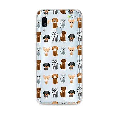 Capa para Galaxy A30 - Doguinhos