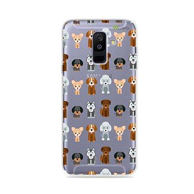 Capa para Galaxy A6 Plus - Doguinhos
