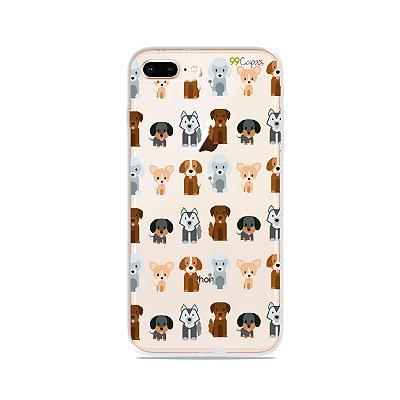 Capa para iPhone 8 Plus - Doguinhos