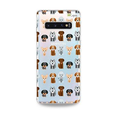 Capa para Galaxy S10 Plus - Doguinhos