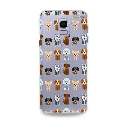 Capa para Galaxy J6 - Doguinhos