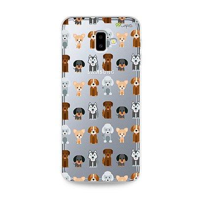 Capa para Galaxy J6 Plus - Doguinhos