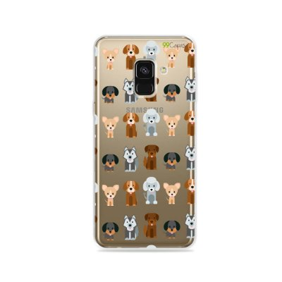 Capa para Galaxy A8 2018 - Doguinhos