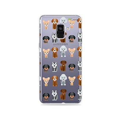 Capa para Galaxy A8 Plus 2018 - Doguinhos