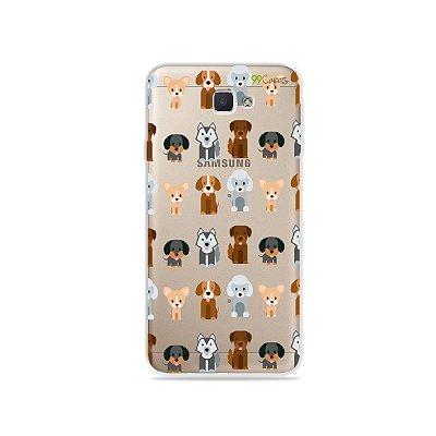 Capa para Galaxy J7 Prime - Doguinhos