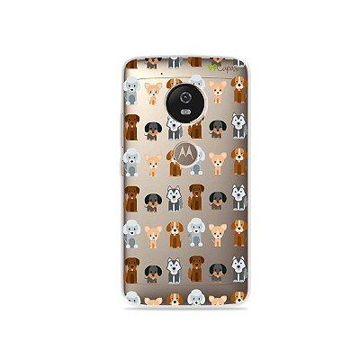 Capa para Moto G5 - Doguinhos