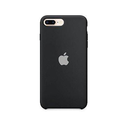 Silicone Case Preta para iPhone 7 Plus - 99Capas
