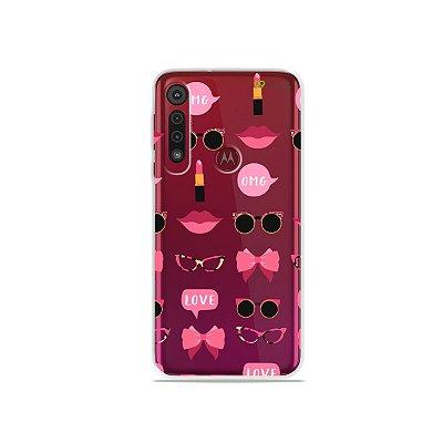 Capa (transparente)  para Moto G8 / G8 Plus - Girls
