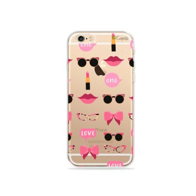 Capa (transparente) para iPhone 6 / 6s - Girls