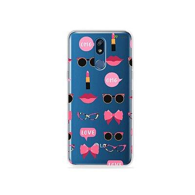 Capa (transparente) para LG K12 Plus - Girls