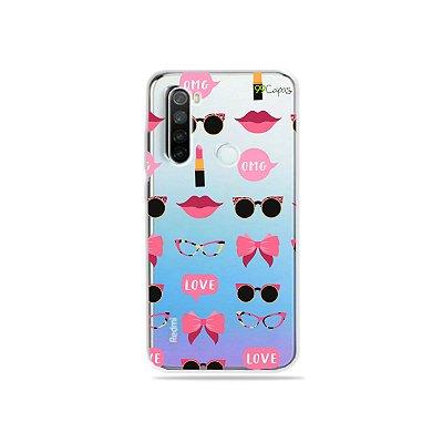 Capa (transparente) para Redmi Note 8 - Girls