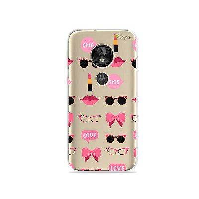 Capa (transparente) para Moto E5 Play - Girls