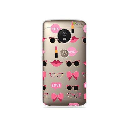 Capa (transparente) para Moto G5 - Girls
