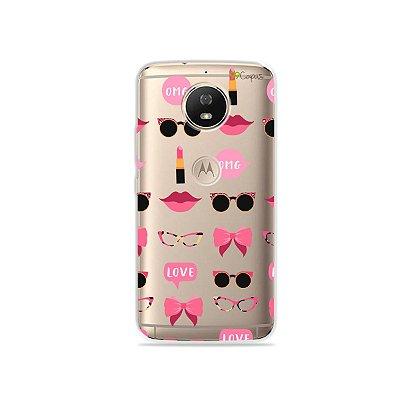 Capa (transparente) para Moto G5S - Girls