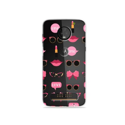 Capa (transparente) para Moto Z3 Play - Girls
